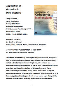 Application of orthodontic Mini-Implants book review