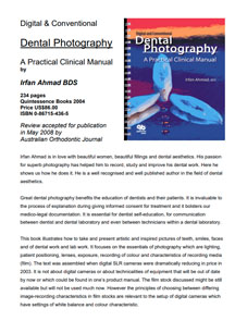 Dental photography manual book review