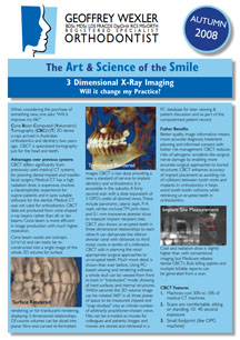 Art & science of the smile 3 - 3Dimension x-rays