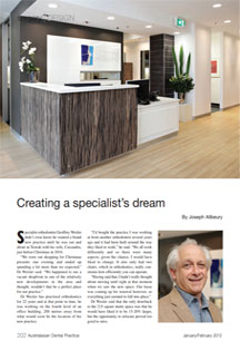 Toorak rooms article Australasian Dentist Feb 2012
